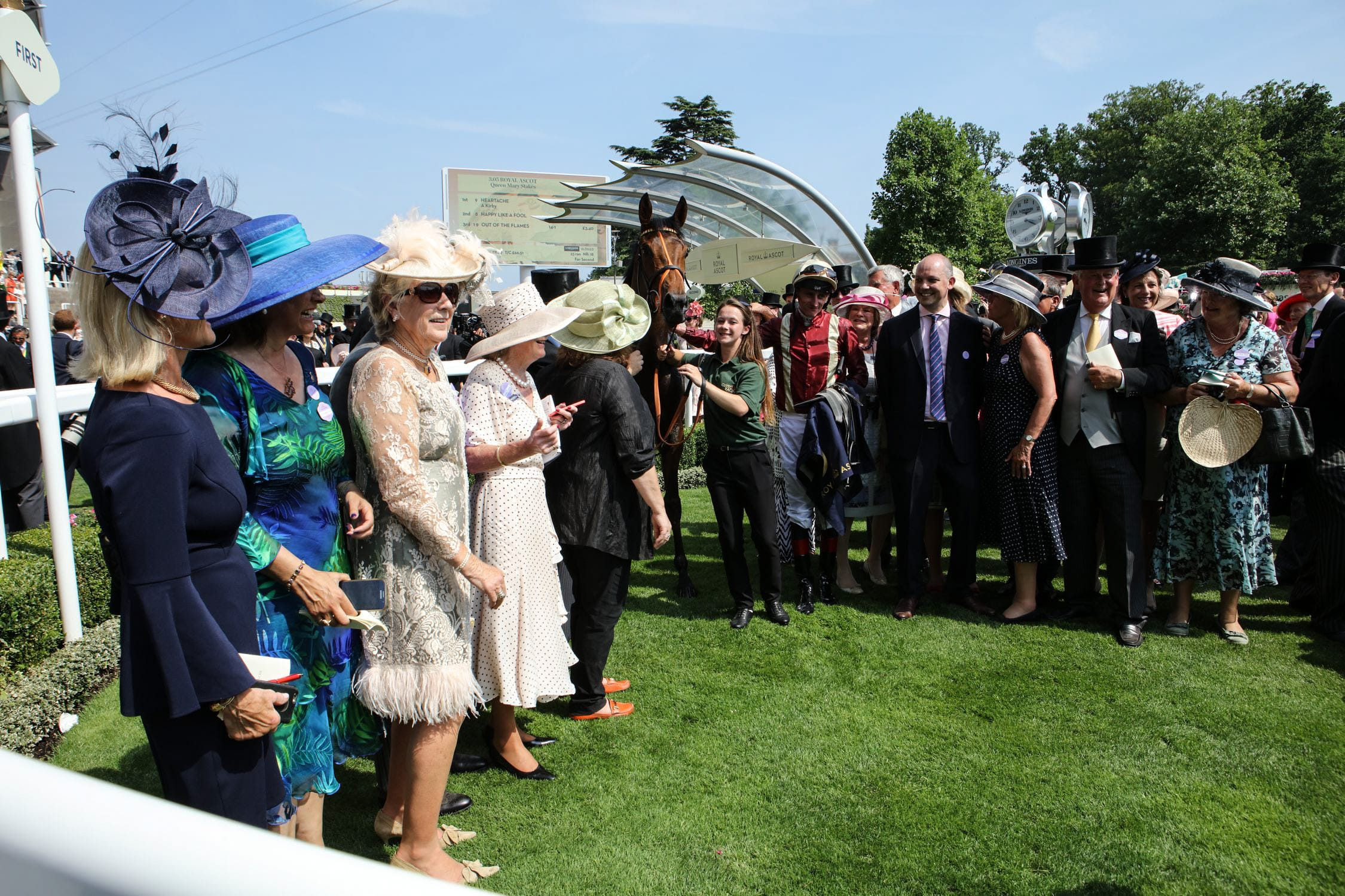 Owners have their photo taken with Heartache at Royal Ascot
