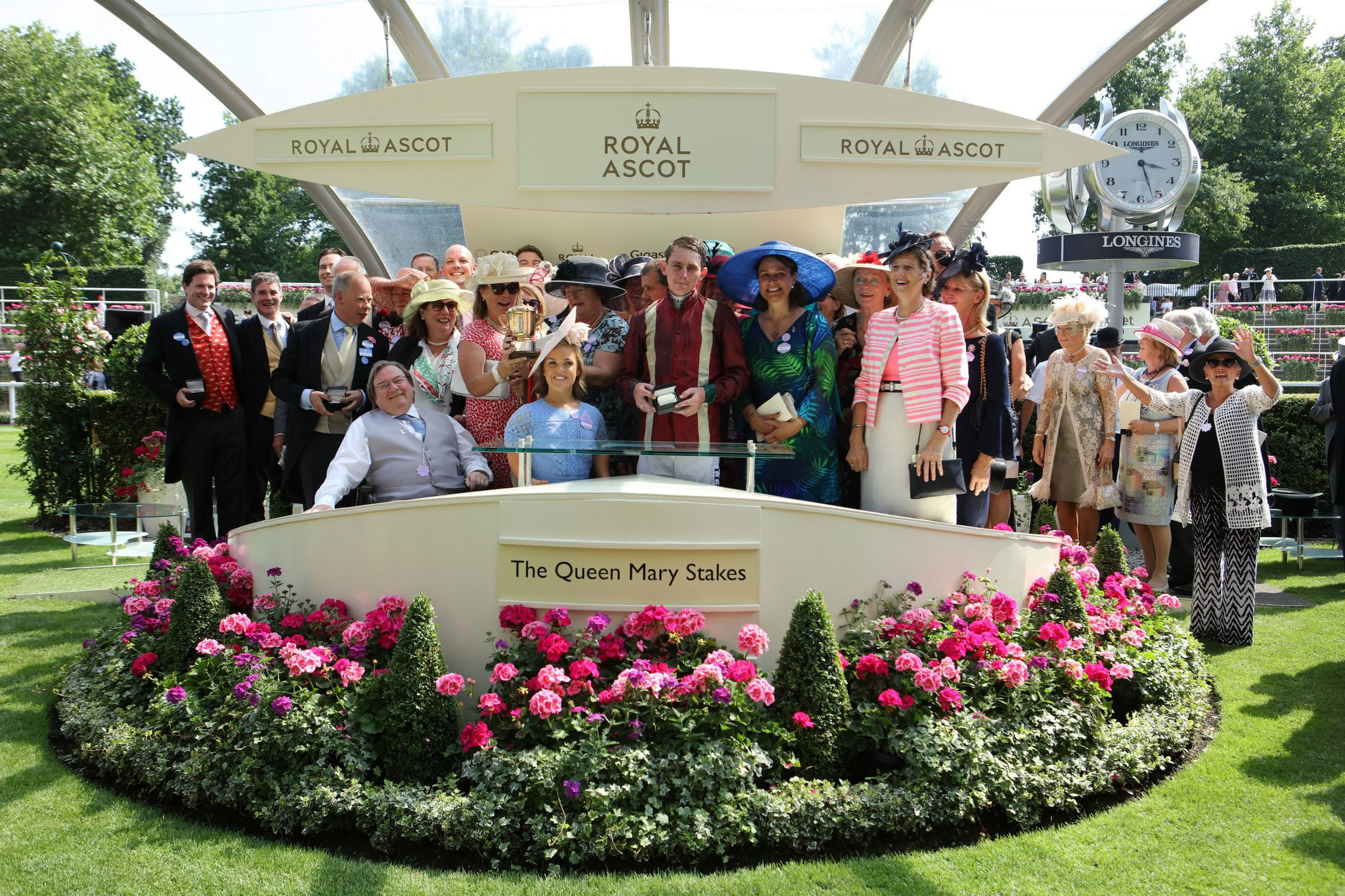 Owners collect their prize at Royal Ascot