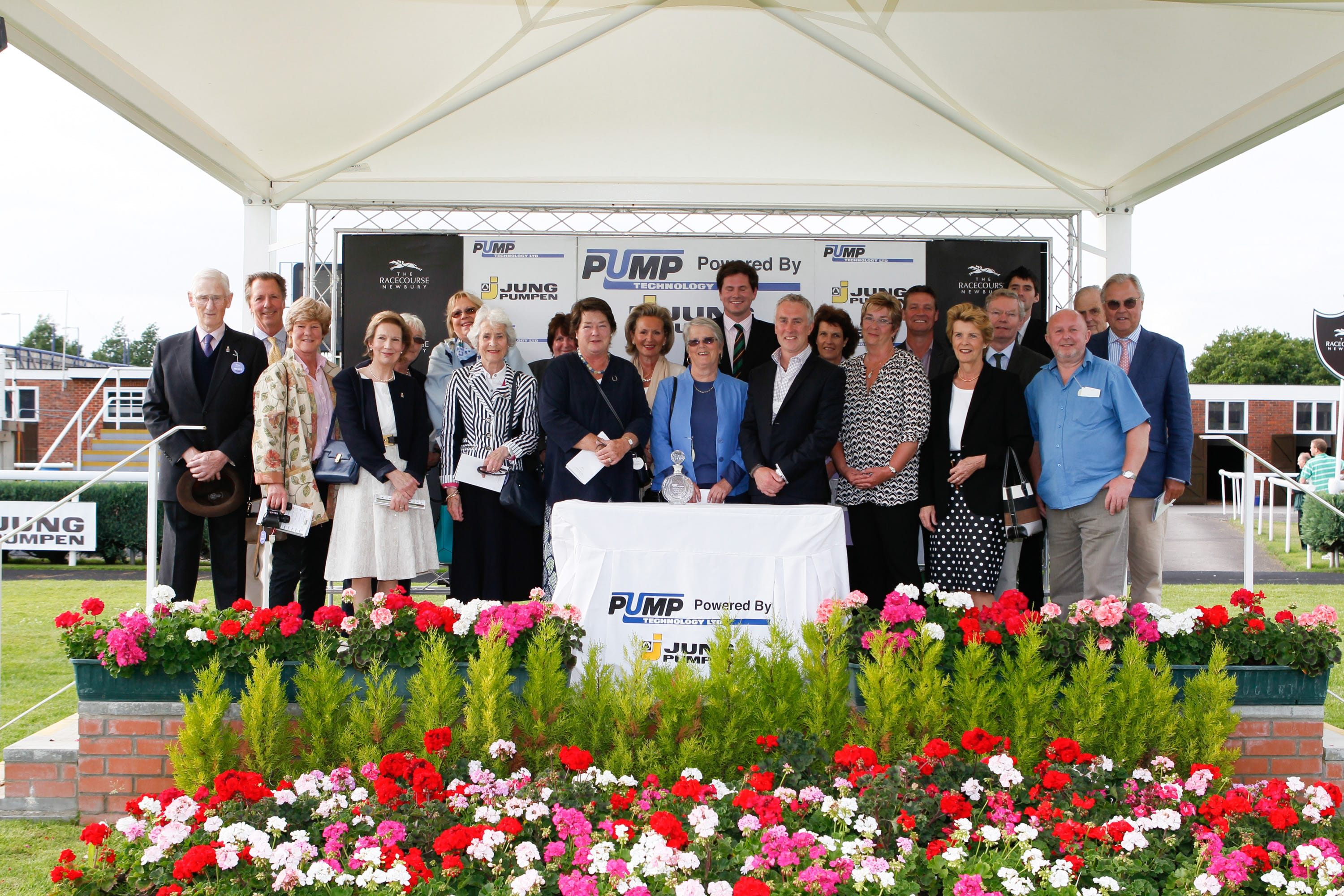 Winning owners of Kendal Mint at Newbury in 2013