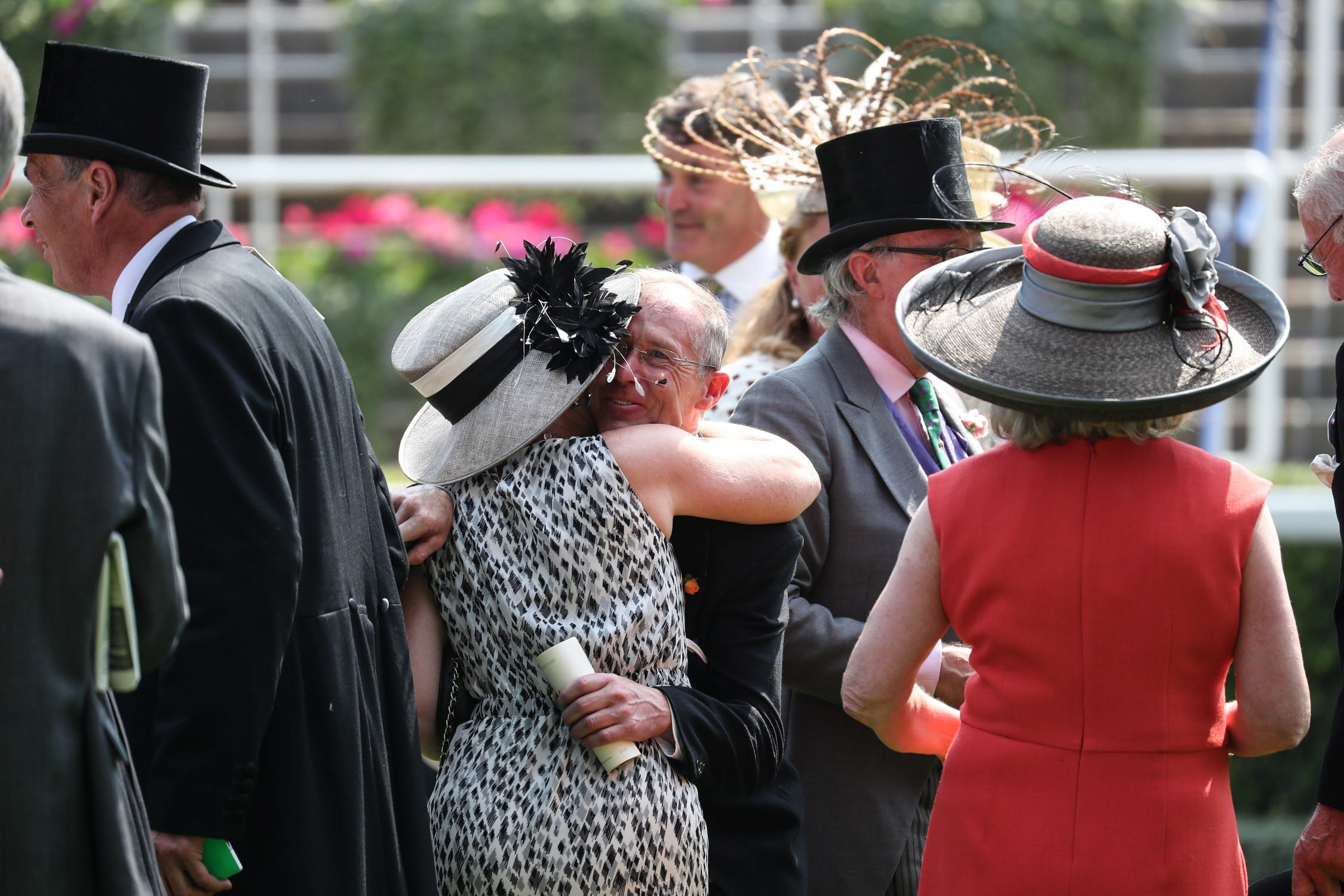 Owners embrace after their Royal Ascot winner