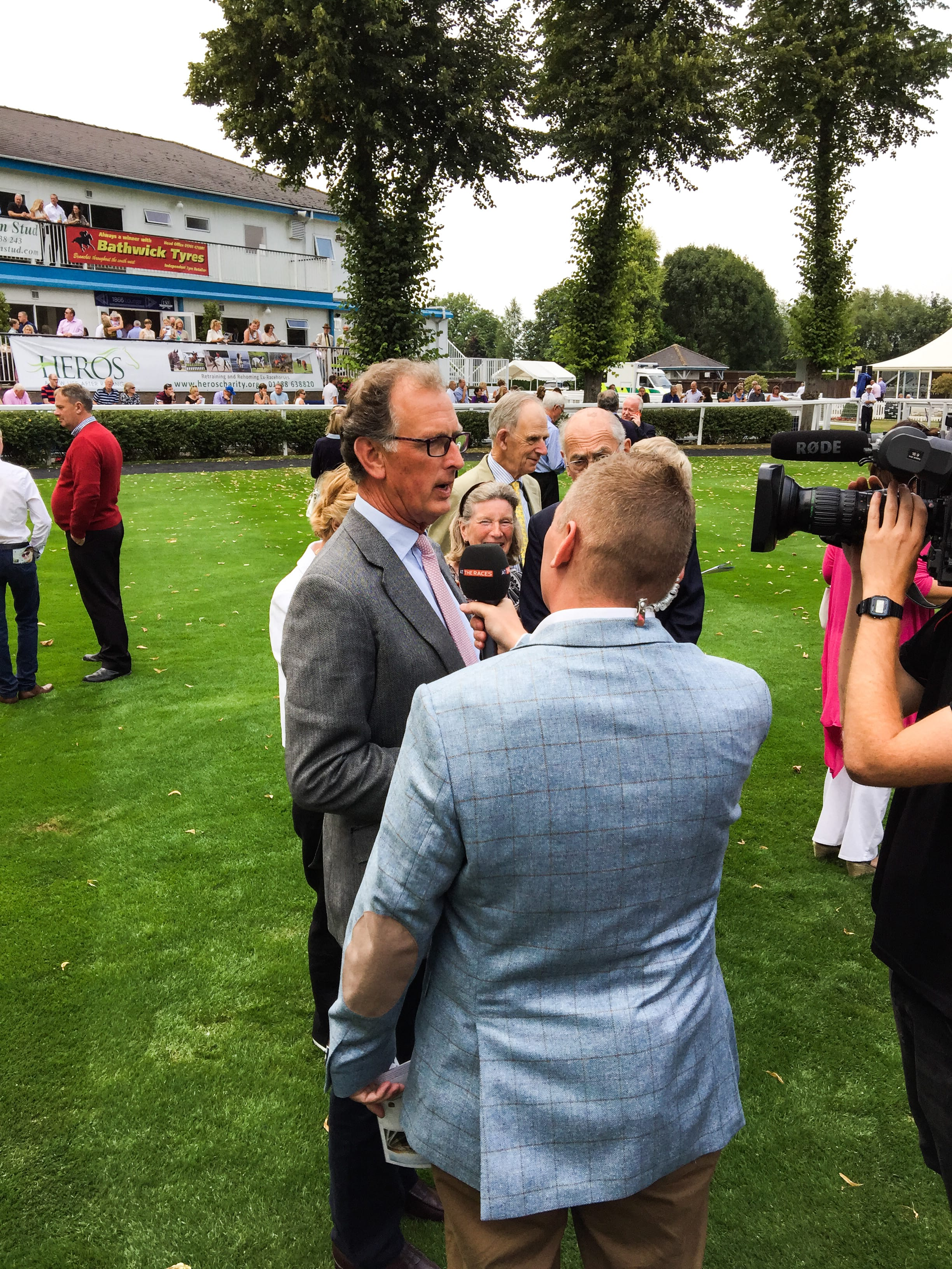 Roger Charlton is interviewed by Matt Chapman before Orange Gin's debut at Windsor in 2016