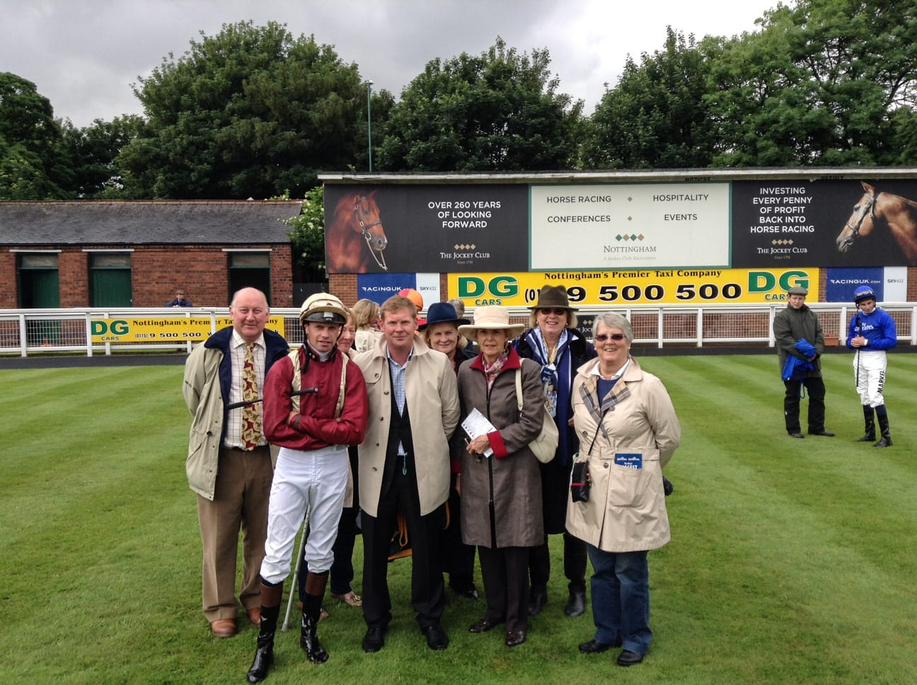 Team photo before Strategise makes her debut at Nottingham