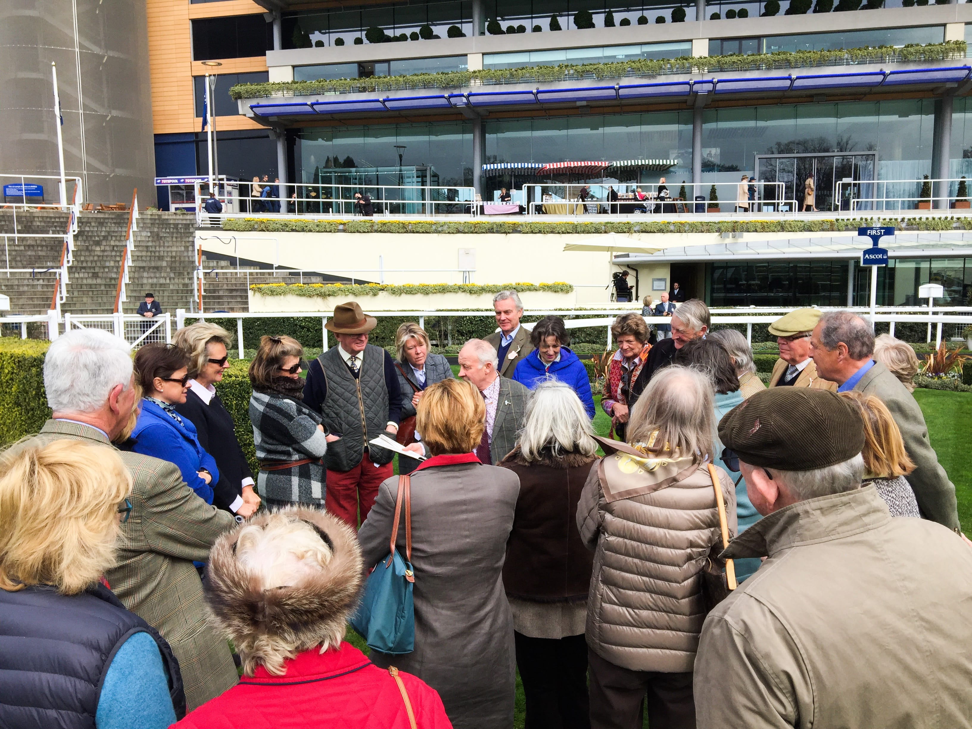 Walk of the course at Ascot in 2016