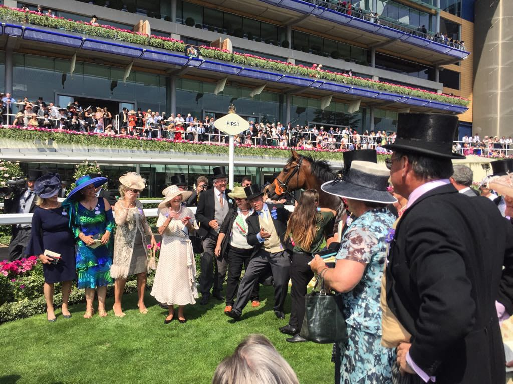 Owners welcome Heartache back to the winners enclosure at Royal Ascot