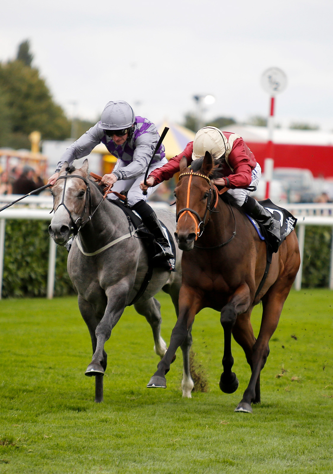 Heartaches denies Havana Grey to win the G2 Flying Childers Stakes at Doncaster